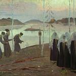 М. В. Нестеров. Отцы-пустынники и жены непорочны.<br>Холст, масло. 1932 г.