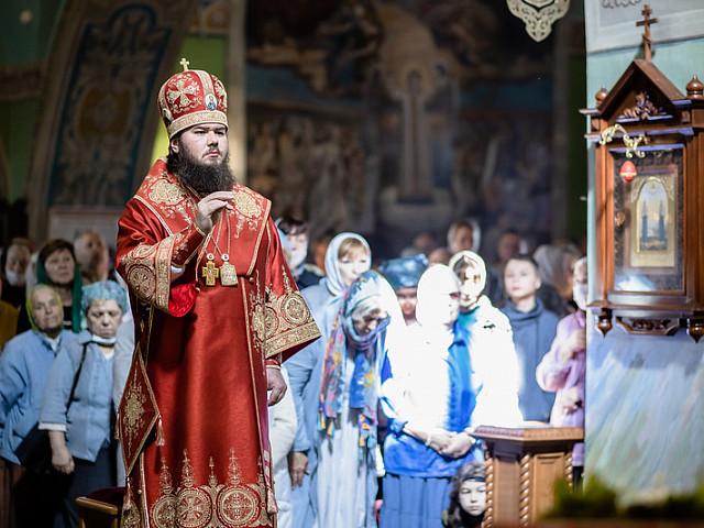 Епископ Фома совершил Литургию в храме Владимирской иконы Божией Матери в Мытищах