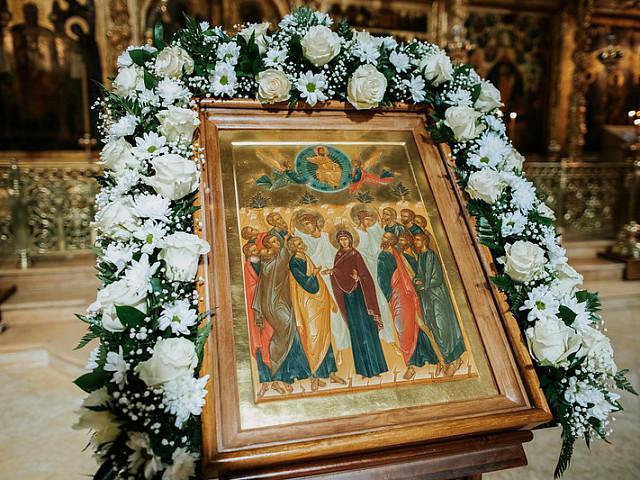 В праздник Вознесения Господня наместник Лавры совершил Литургию в Троицком соборе