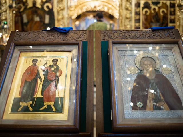 Лавра празднует память святых мучеников Сергия и Вакха — духовных покровителей преподобного Сергия Радонежского
