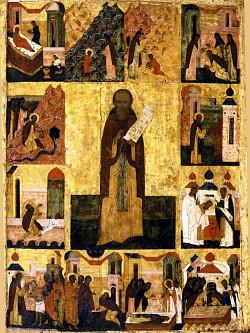 Архитектурные фоны житийных циклов преподобного Сергия Радонежского в XVI веке