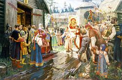 Троицкие листки,  №  121. Много может молитва Матери Божией