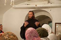 Преподаватель МДА иеродиакон Симеон (Мазаев) начал цикл лекций на Пятницком подворье Свято-Троицкой Сергиевой лавры
