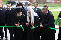 Святейший Патриарх Кирилл освятил здание нового общежития Московской духовной академии