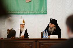 Святейший Патриарх Кирилл открыл собрание игуменов и игумений Русской Православной Церкви в Московской духовной академии