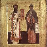 Святые Симеон и Савва. Сербия. XV век.  Белград, Национальный музей