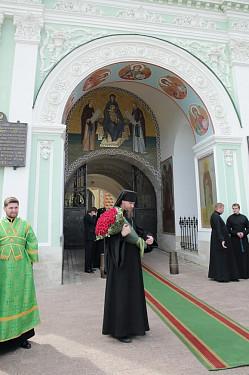 Новая мозаичная фреска в Святых Вратах Троице-Сергиевой Лавры