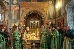 Торжественное богослужение в Покровском Хотькове монастыре в день празднования памяти преподобных Кирилла и Марии, Радонежских чудотворцев