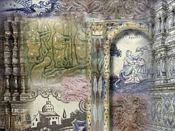 Изразцы печные, рельефные и расписные, в Сергиево-Посадском музее