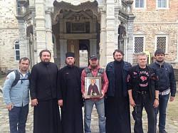 Насельники Троице-Сергиевой Лавры приняли участие в паломничестве «Святая Гора» мотоклуба «Ночные волки»