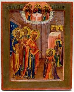 На Конном дворе экспонируются образы Явления Божией Матери преподобному Сергию Радонежскому