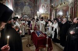 Архиепископ Феогност возглавил в Троице-Сергиевой Лавре панихиду по новопреставленному архимандриту Кириллу (Павлову)