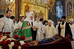 Патриарх Кирилл возглавил в Троице-Сергиевой лавре отпевание и погребение архимандрита Кирилла (Павлова)