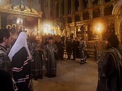 Святейший Патриарх Кирилл возглавил Литургию Преждеосвященных Даров в Троице-Сергиевой Лавре