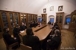 Митрополит Даниил в Троице-Сергиевой Лавре провел встречу памяти архимандрита Кирилла (Павлова)