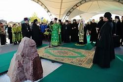 Патриарх Кирилл освятил место строительства социально-реабилитационного центра на территории Сергиево-Посадского дома-интерната для слепоглухих детей