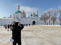 Свято-Троицкая Сергиева Лавра встретила делегатов туристического форума «Россия  – Греция»
