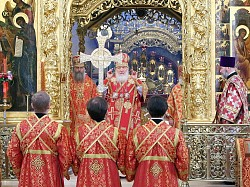 Патриарх Кирилл совершит Божественную литургию в Свято-Троицкой Сергиевой Лавре