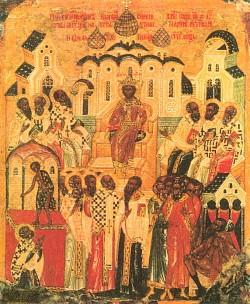 Неделя 7-я по Пасхе, святых отцов I Вселенского Собора (325)