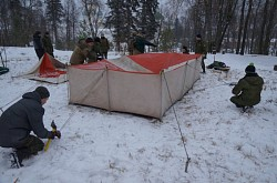 Курсанты Центра «Пересвет» продолжили подготовку к зимнему походу
