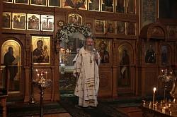 Архиепископ Феогност возглавил Литургию на Московском подворье Валаамского монастыря