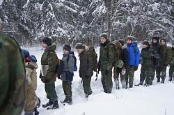 Курсанты Центра «Пересвет» учились поведению на природе зимой в случае чрезвычайной ситуации