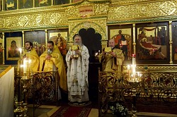Архиепископ Феогност совершил Литургию в Богородице-Рождественском монастыре