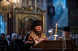 Епископ Сергиево-Посадский Парамон совершил утреню с чтением Великого покаянного канона преподобного Андрея Критского